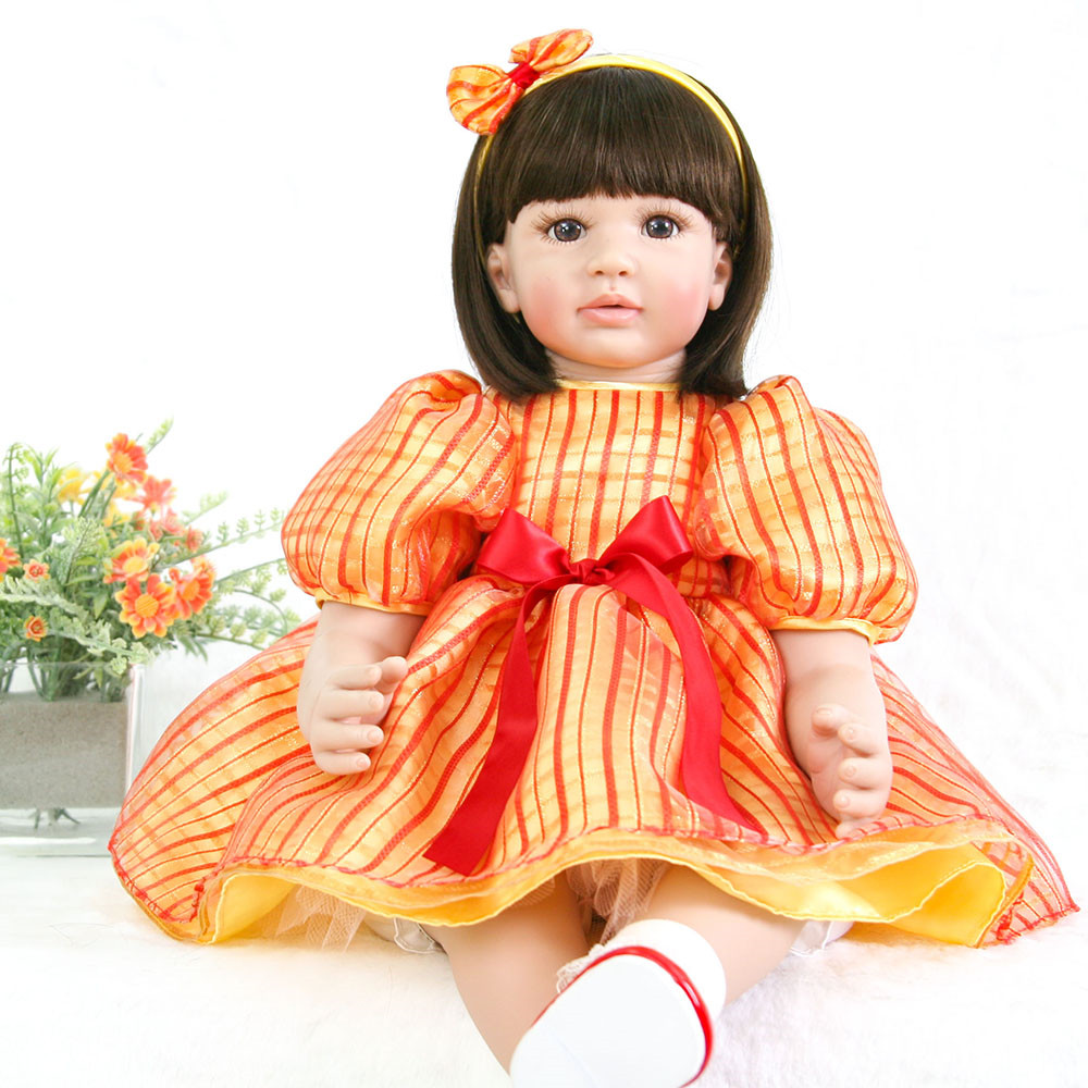 Dolls Creative 60 Cm Reborn Baby Dolls Lifelike Dolls For Girls Doll Reborn Soft Silicone Boneca Bebes Reborn Christmas Toys For Girls Great Varieties