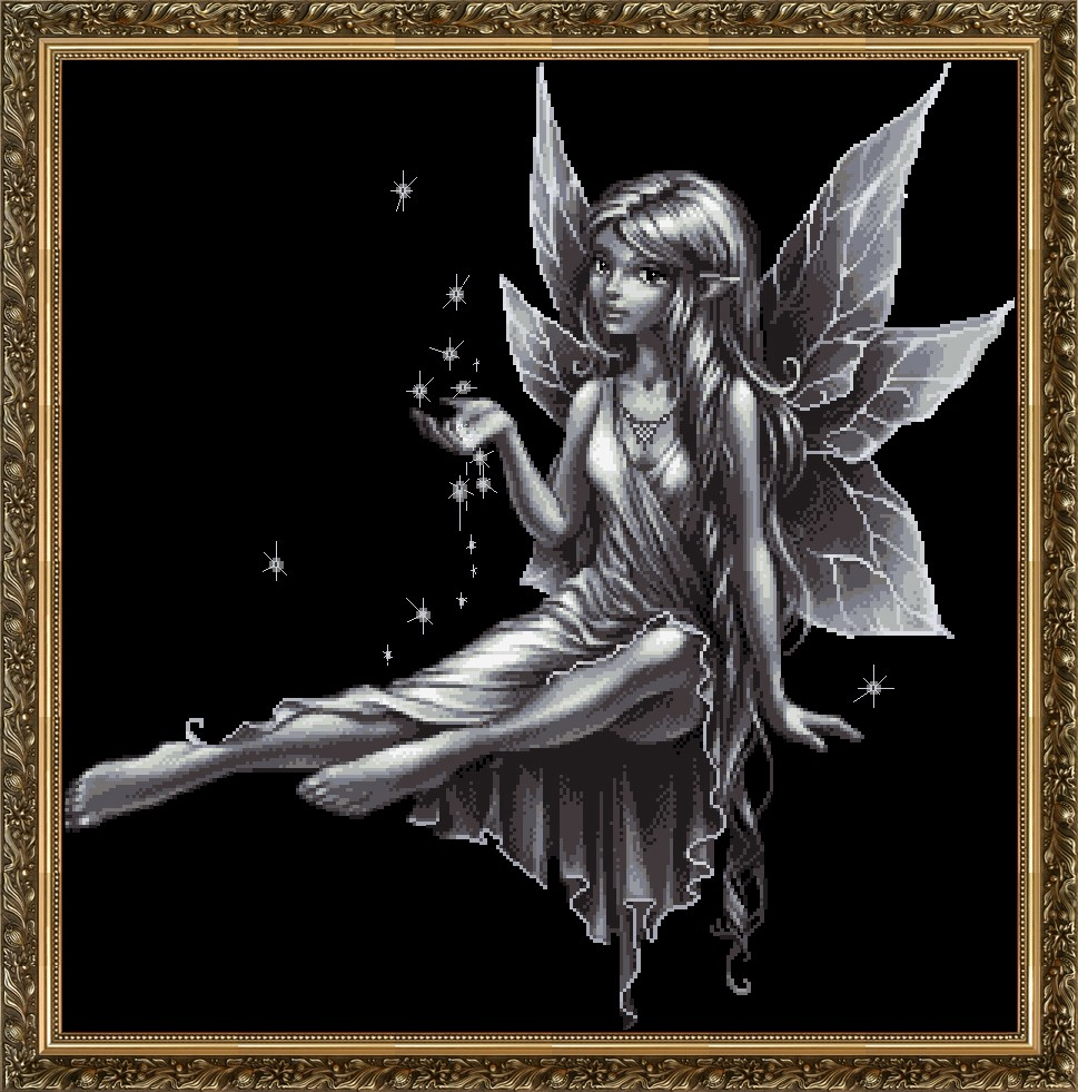 Top Quality Beautiful Lovely Counted Cross Stitch Kit Angel Fairy At Night In The Dark