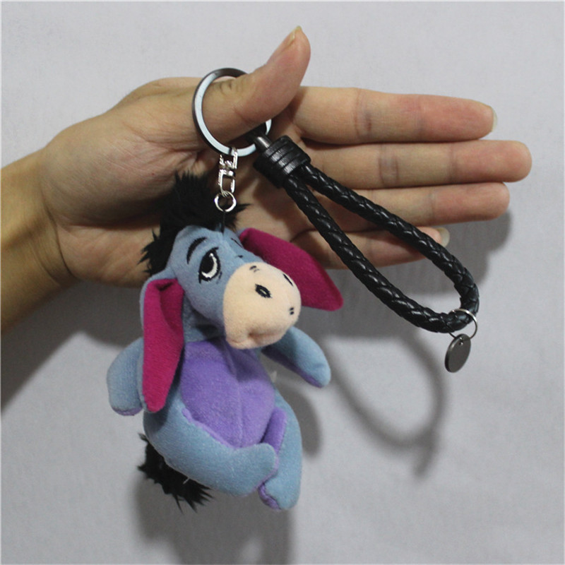 10cm Eeyore Donkey Plush Pendant Soft Toys For Bouquets Mini Donkey Eeyore Toys For Keychain