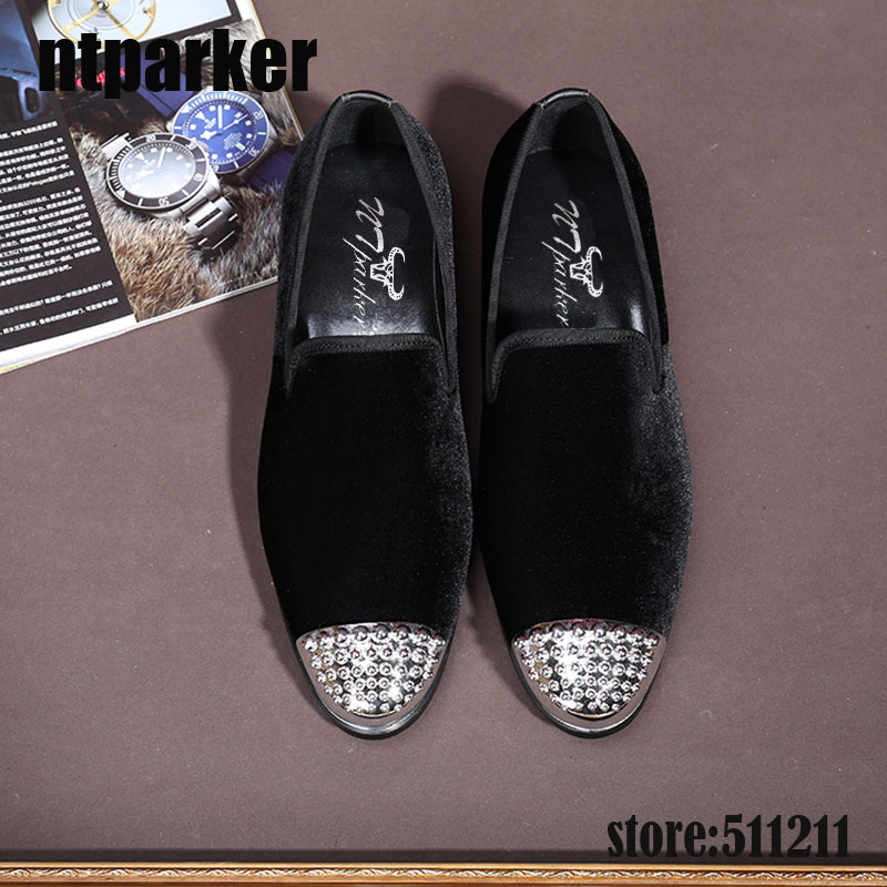 Mocasines Tamaño Negro Ntparker Lujo Eu38 Informales Para De Estilo 46 Italiano Ante Zapatos Negro Hombre Formales rUx7Prq