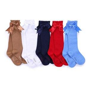 Image 1 - جوارب أطفال للبنات من Pettigirl مصنوعة من القطن الناعم بنصف رباط جوارب للأطفال الرضع مصنوعة يدويًا جوارب جميلة للأميرة في الركبة من 1 إلى 6 سنوات