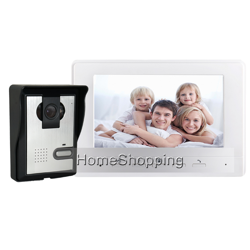 FREE SHIPPING Apartment New 7 Color Screen Video Intercom Door Phone System 1 Monitor + 1 Waterproof Doorbell Camera In Stock my apartment