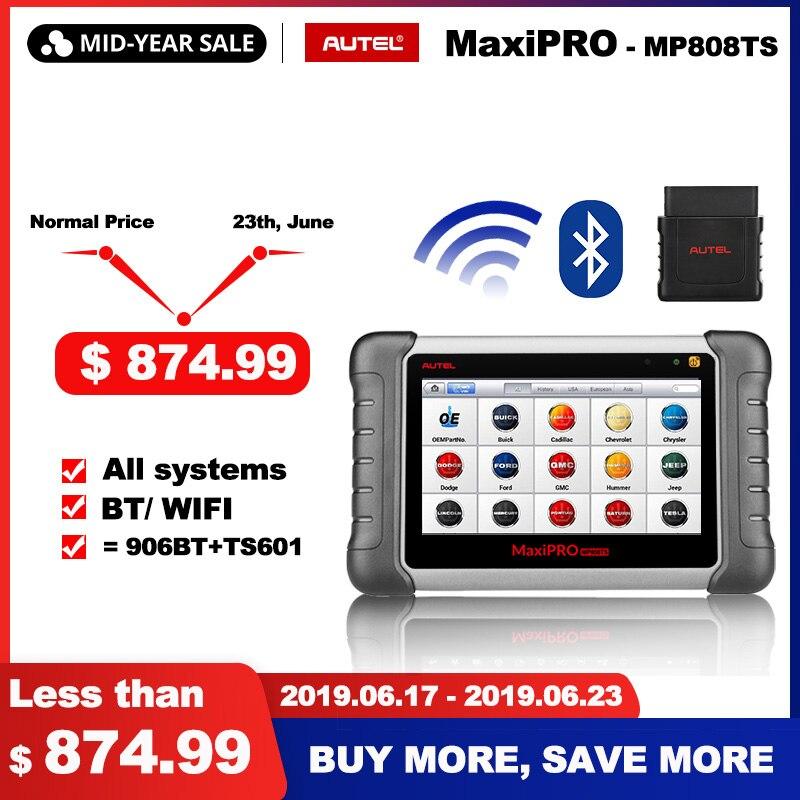 Autel MaxiPRO MP808TS OBDII Do Carro Ferramenta de Diagnóstico Automotivo OBD2 2 Do Scanner OBD Code Reader como DS808 Adicionar Funções TPMS PK MS906