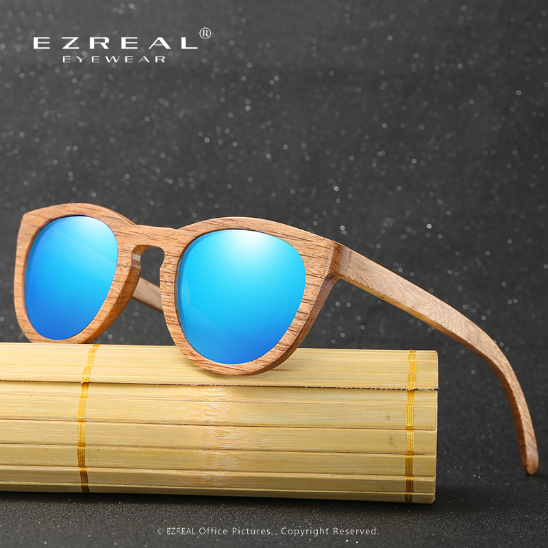 EZREAL NEW Bamboo Wooden Sunglasses Bran