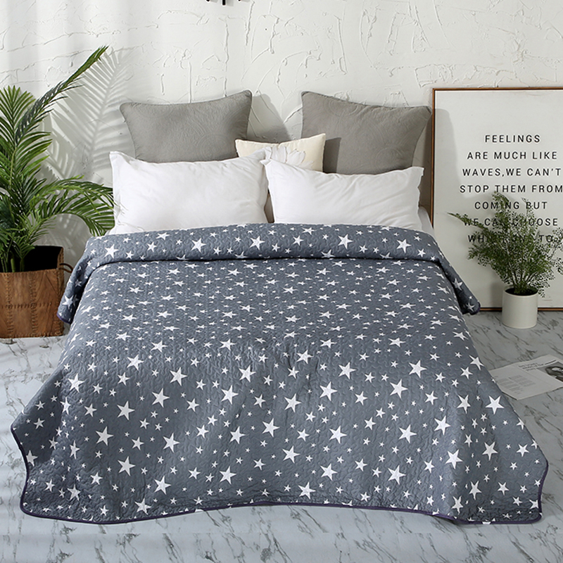 Summer Bedspread Geometric Printed Double Quilted Blanket Quilts And Duvets For Adults Thin Air-conditioned Comforter For Bed#sw