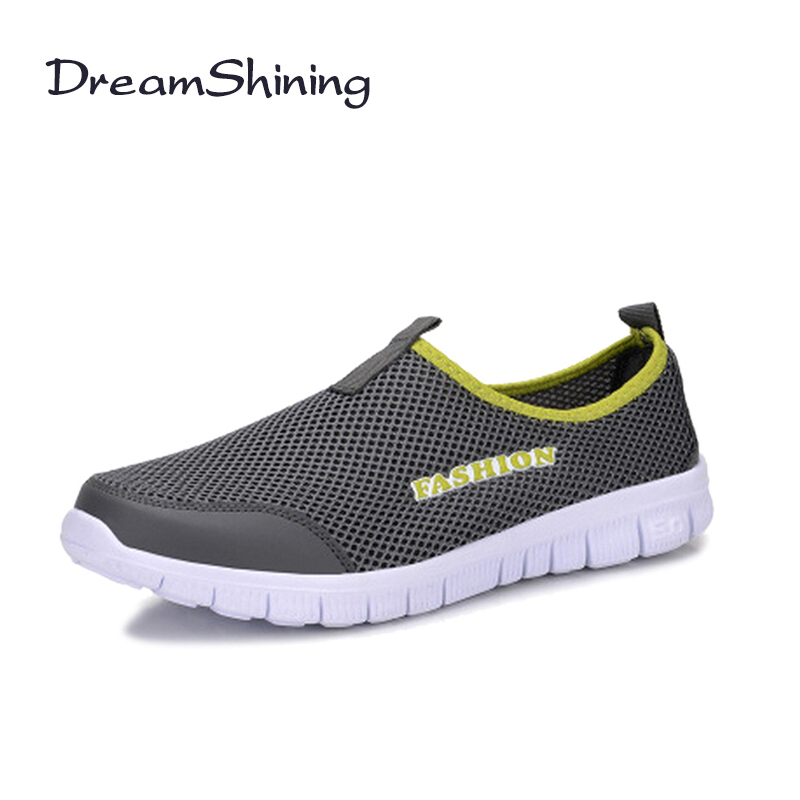 DreamShining Summer Sporting Walking Women Shoes Size 34-46 Breathable Casual Women Shoes Slip on Sporting Shoes Couple Shoes