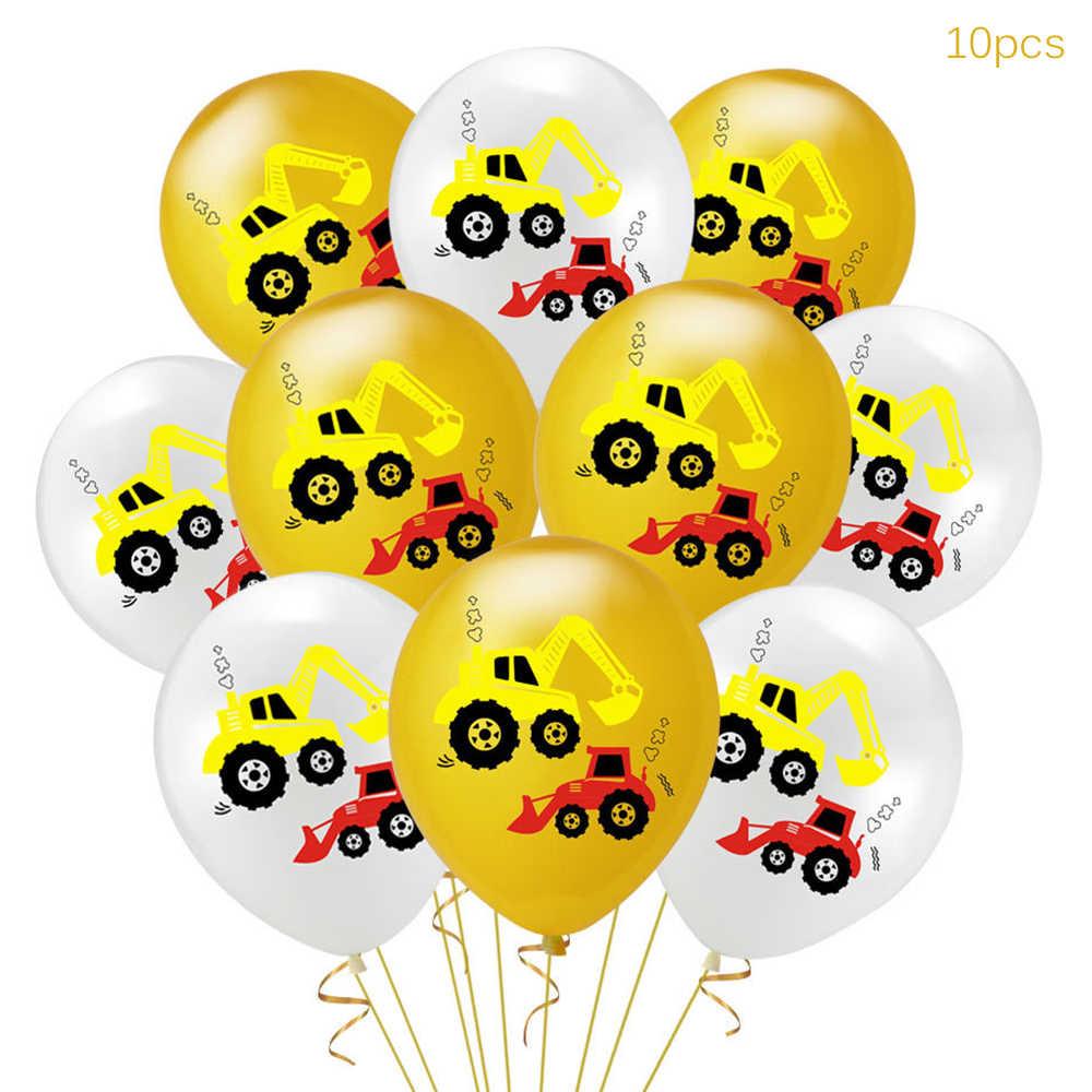 YORIWOO การ์ตูนบอลลูนอากาศรถยนต์ Fire รถบรรทุกบอลลูน Confetti Baloons เด็กตกแต่งเด็กเด็กอาบน้ำเด็ก