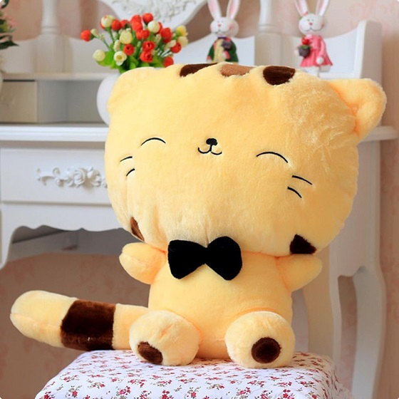 Kids Cute Cat with Bow 20CM Plush Dolls Toys Gift Stuffed Soft Doll Cushion Sofa Pillow Gifts Xmas Gift Party Decor 1pc 40cm creative japan sushi shape plush toys stuffed soft sofa pillow kawaii cushion simulation food doll gift for girls kids