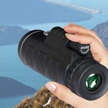 40X60 Монокуляр высокой мощности телескоп HD двойной фокус Монокуляр+ штатив+ зажим+ компас