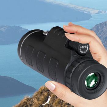 Gorący sprzedawanie 40X60 wysokiej mocy monokularowy teleskop HD Dual Focus zakres monokularowy + statyw + klip + kompas tanie i dobre opinie 148846