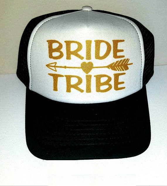personalize glitter Bride Tribe wedding bridesmaid Mesh Trucker Snapback trucker  hats caps bridal shower hen party gifts favors -in Party Favors from Home  ... f4157039bdb9