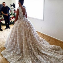 Luxury Ball Gown Wedding Dresses Two Pieces 2017 New Designer Style Bridal Dresses Party Gowns Fairytale Princess Plus Size