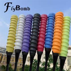 FlyBomb высококачественные Бадминтонные Теннисная ракетка лента для ручки ракетки обертывания анти-скольжения Киль ручки ручной Клей