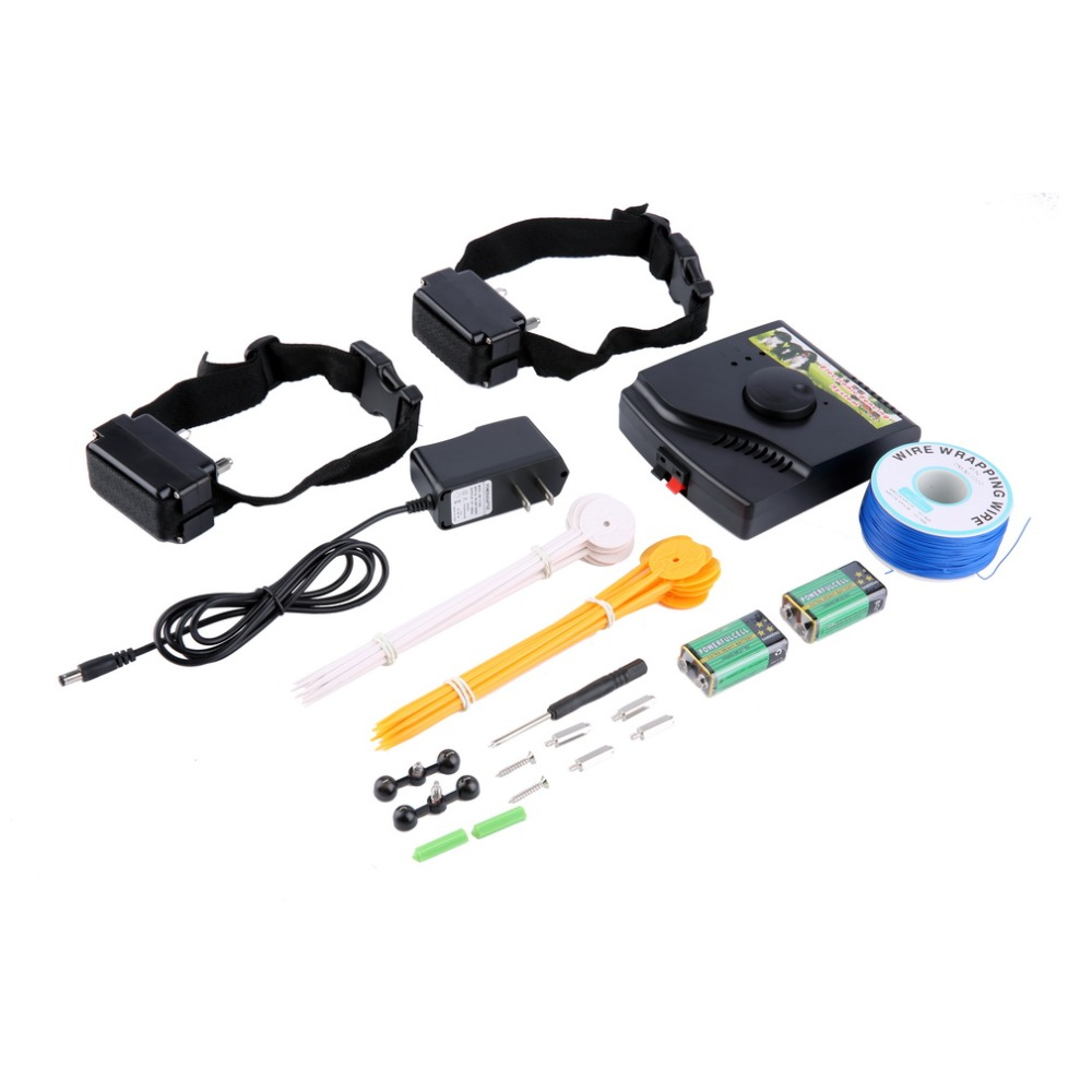 Waterproof Safety Pet Training Control Underground Electric Device Dog Fence Fencing System 2 Shock Collar Worldwide Store