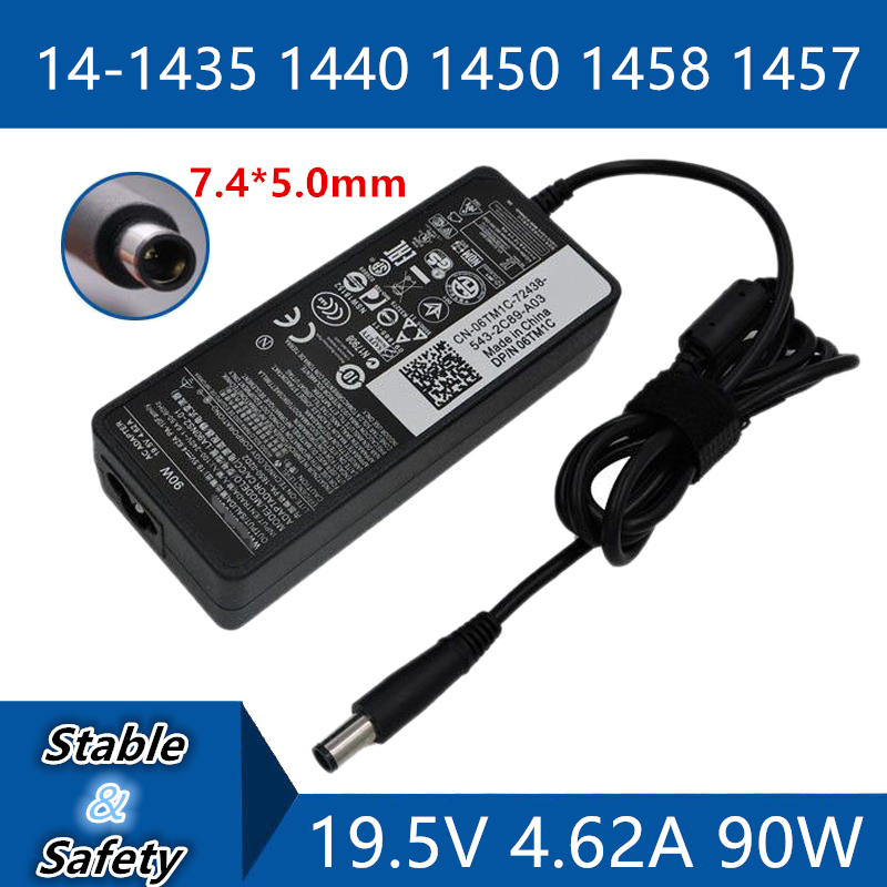 19.5V 4.62A 7.4*5.0mm Universal Laptop Adapter Charger For <font><b>DELL</b></font> Studio14 <font><b>1435</b></font> 1440 1450 1458 1457 DC Jack Power adapter image