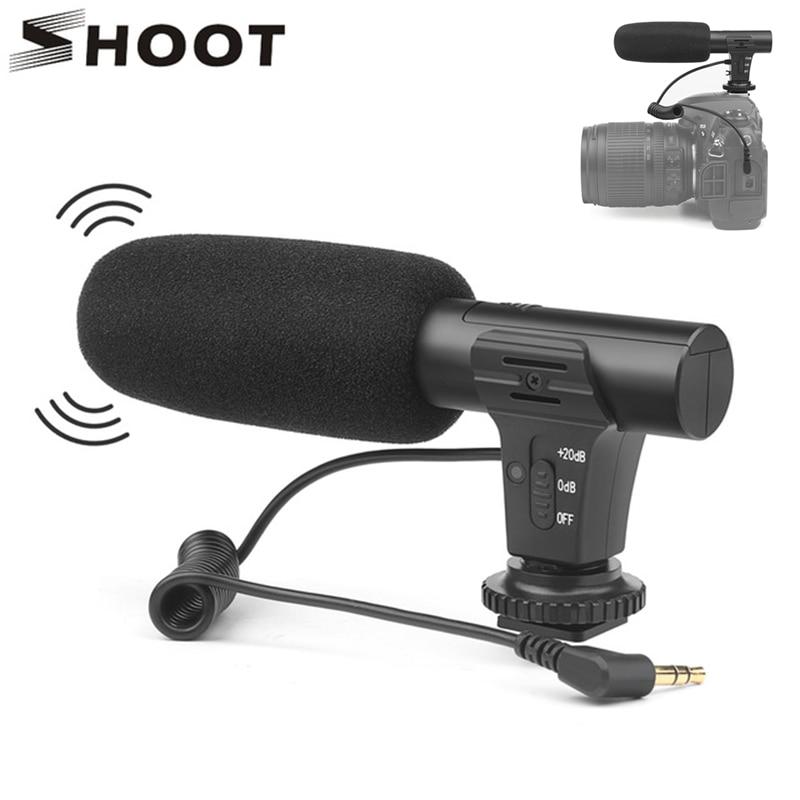 Atirar câmera de vídeo estéreo microfone dslr câmera microfone para nikon canon sony samsung dslr câmera para xiaomi 8 iphone x