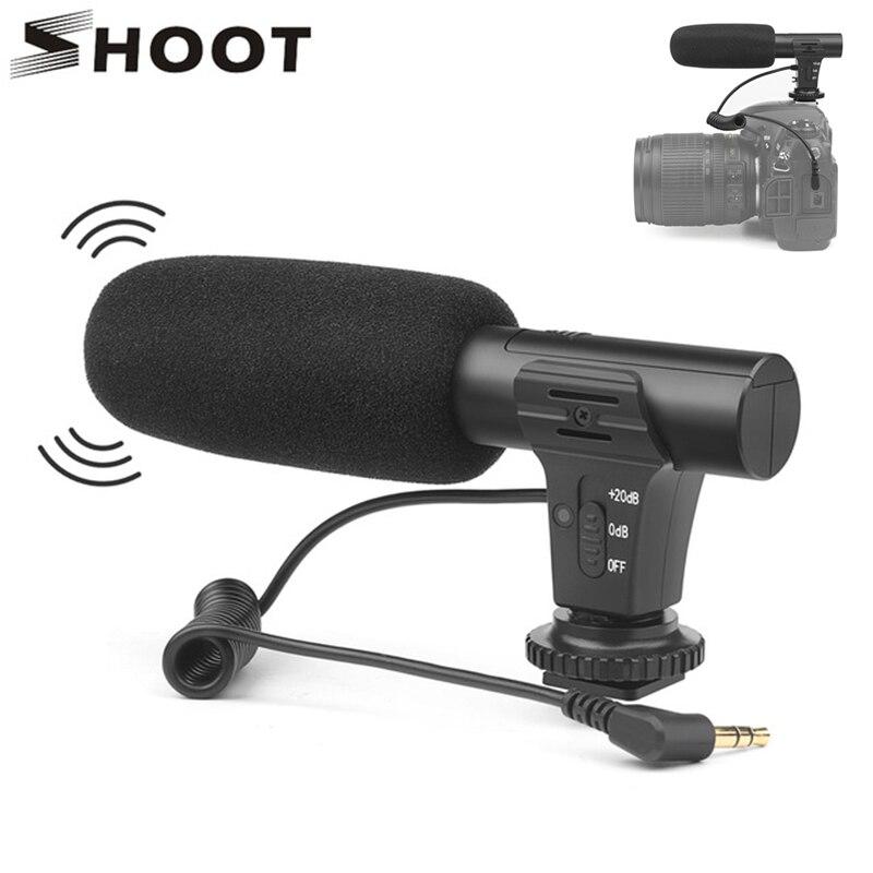 SCHIETEN Stereo Camcorder Microfoon DSLR Camera Microfone Voor Nikon Canon Sony Samsung DSLR Camera Voor Xiaomi 8 iphone X