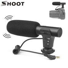 Shoot microfone estéreo para câmera, microfone dslr para câmera xiaomi 8 iphone x, nikon, canon, sony, samsung dslr