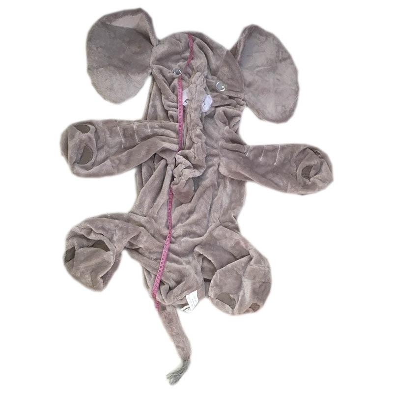 80 см серый гигантский слон кожа с молнией плюшевая мягкая игрушка мягкие детские подушки для малышей без набивки