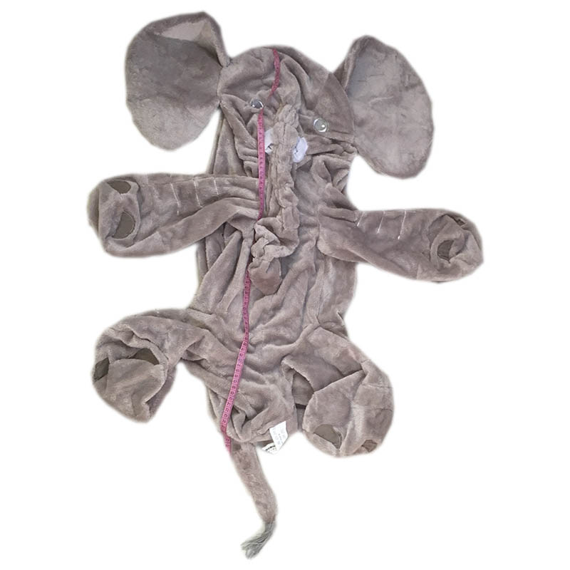 80 cm gray Giant Elephant Skin With zipper Plush Soft Toy Stuffed Baby Kids baby Pillows without stuffed цена