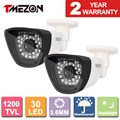 Tmezon 2PCS 1200TVL 30Lens  CCTV Camera High Definition Security Bullet Waterproof Camera  Night Vision 85ft