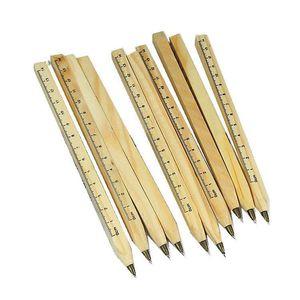 Image 1 - 30 teile/los Neue handgemachte holz Umwelt Lineal Manuelle Multifunktions kugelschreiber kugelschreiber schönes geschenk Großhandel