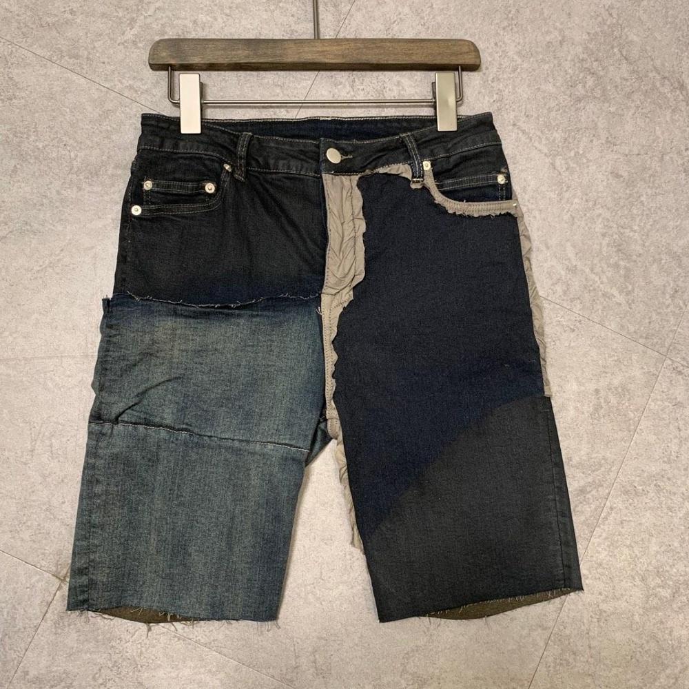 19ss Owen Seak Men Casual Short Washing Denim Cotton Gothic Style Men's Clothing Sweatpants Summer Women Black Shorts Size XL