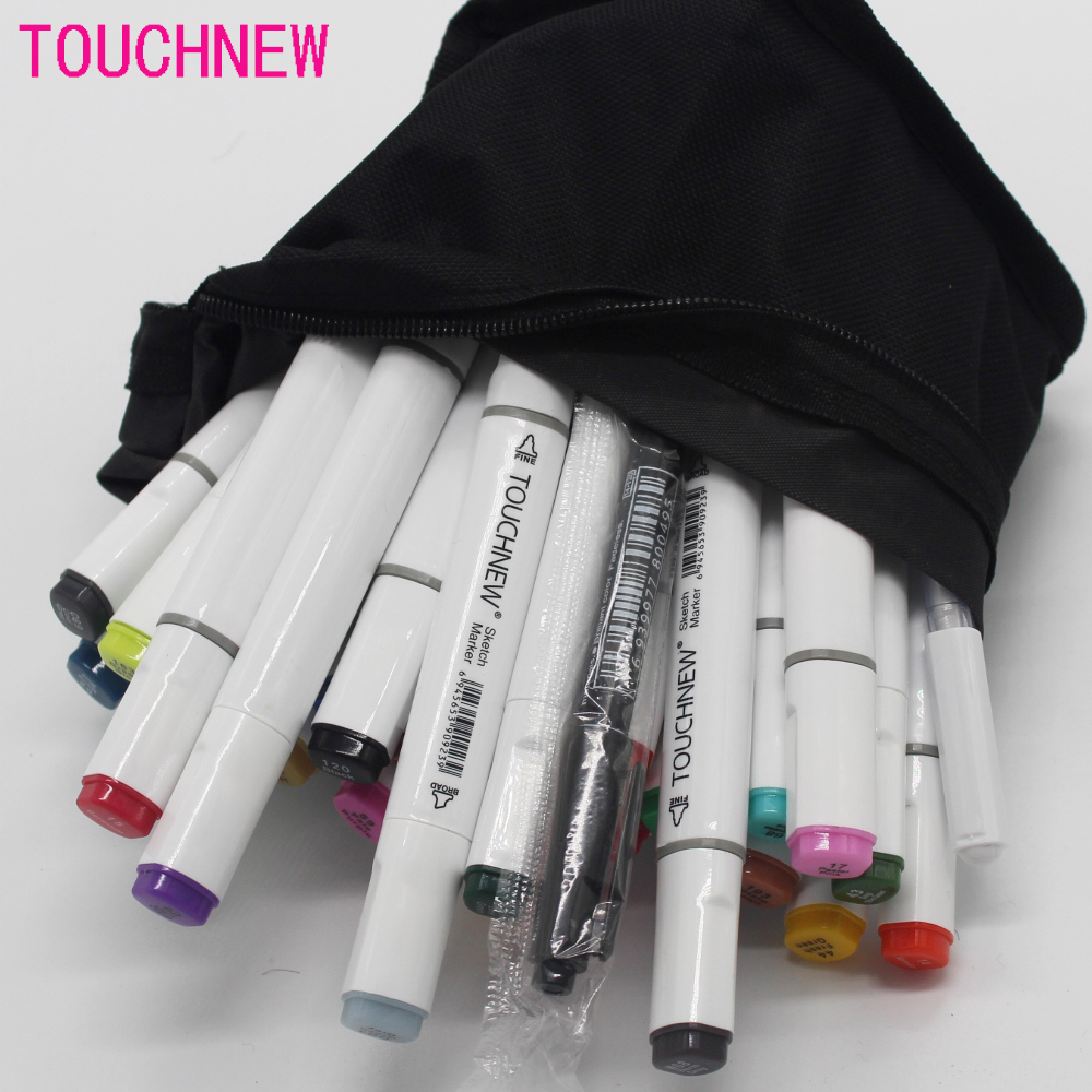 Free shipping alcohol oily art mark pen two-headed students hand-painted design 36 48 72 colors suit fine markers manga drawing w110145 soft head fine water mark pen 48 60 color beginners painting professional equipment advanced ink student art suit