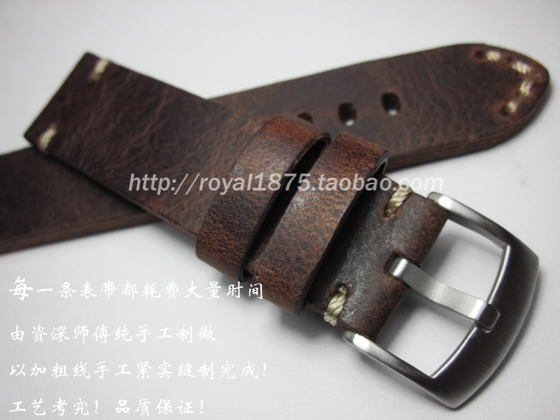 High Quality Handmade Straps Men's 18 19 20 21 22mm Retro Brown  watch band Matte Leather steel buckle For MIDO IWC Tissot Seiko wholesale price high quality fashion high quality stainless steel watch band straps bracelet watchband for fitbit charge 2 watch