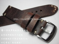 High Quality Handmade Straps Men S 18 19 20 21 22mm Retro Brown Watch Band Matte