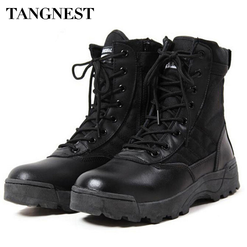 Tangnest Men S Desert Boots 2017 New Tactical Combat Boots