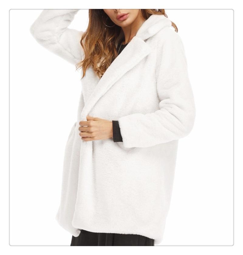 Imitation fur coat 2018 European and American women's wear long and loose plush soft rabbit hair (4)