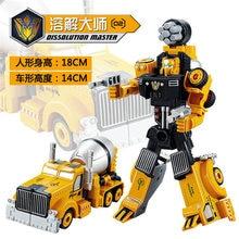 Luckyted Aksi mainan penggali excavator Model Transformasi Robot Mobil Mainan Action Figure Rekayasa kendaraan Hadiah Terbaik 17.5 CM 7″