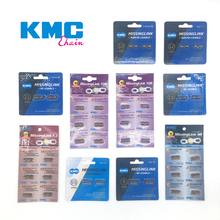 KMC Bicycle Chains 6/7/8/9/10/11/12 Speed Magic Buckle Bike Chain Missing Link Chain For KMC Shimano Titanium Gold Silver Color цена и фото