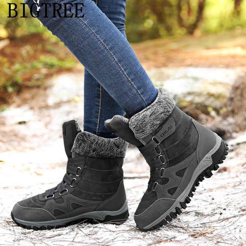 Yarım çizmeler kadınlar için kış ayakkabı kar botları kadın rahat ayakkabılar marka nubuk kışlık botlar kadın tasarım ayakkabı zapatos de mujer