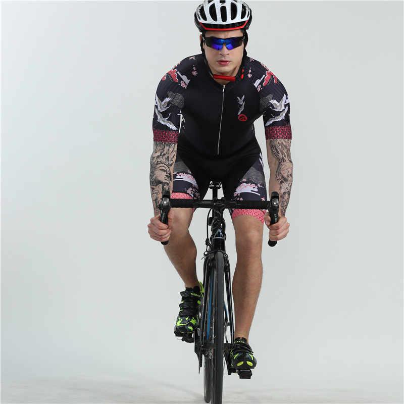 2019 Boestalk Pria Tinggi Kualitas Bersepeda Skinsuit Ropa Ciclismo Hombre Kustom Triathlon Suit Musim Panas Lengan Pendek Sepeda Bodysuit