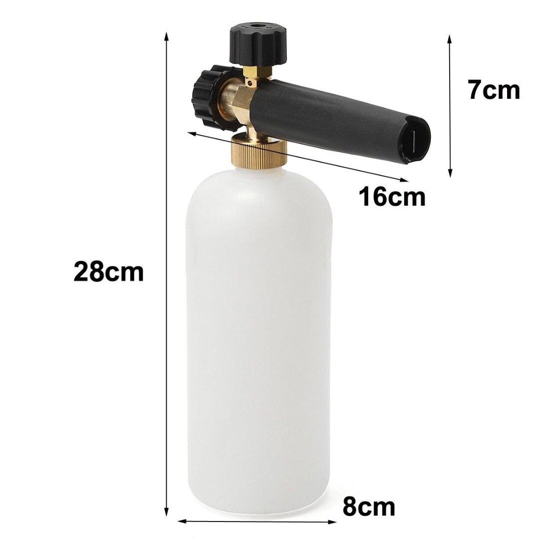 1pc Pressure Car Washer Snow Foam Lance + 1L Plastic Soap Bottle with Transparent Hose For Karcher HDS & HD M22F