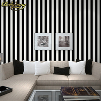 beibehang wall paper High Quality Black and white striped for walls modern tapete papel de parede roll for living room bedding