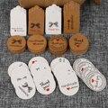 100 шт. мульти милые коричневые/белые бумажные подарочные этикетки, бирки ручной работы, ювелирные изделия, талисманы, круглые свадебные суве...