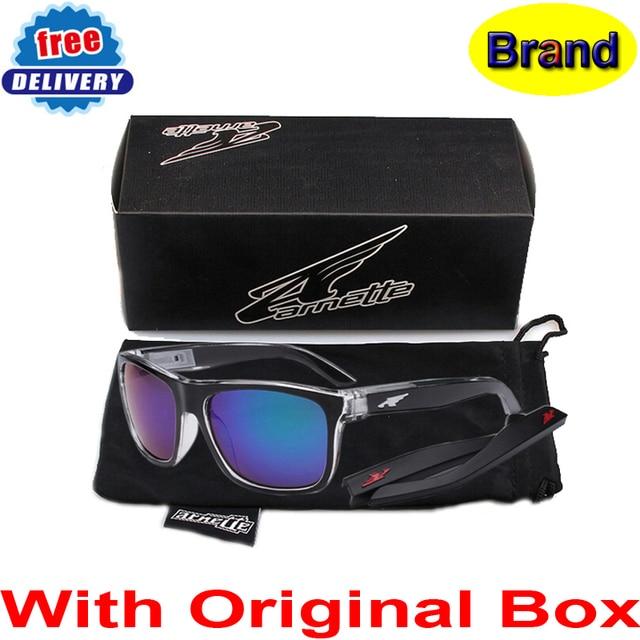 Con caja, pierna extraíble moda gafas De Sol Arnette marca anteojos mujer /  hombre deporte