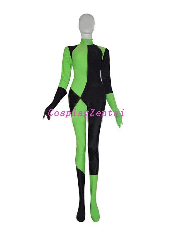 Kim Mümkün Shego Kostyumu Qadın Super Villain Halloween qadın - Karnaval kostyumlar - Fotoqrafiya 2