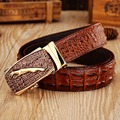 Jaguar crocodile mens belts luxury cowhide genuine leather 2017 new arrival hot designer ceintures homme hombre cowboy alligator