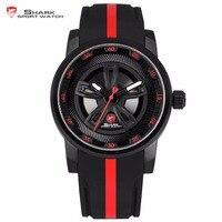 Thresher SHARK Sport Watch Brand Red Racing Car Wheel Design Quartz Movement Silicone Watches Waterproof Mens