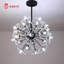 Modern LED Crystal Pendant Lamp Dandelion hanging Light Fixture For Dining Room Bedroom Lustres de Cristal luminaire suspendu