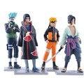 Naruto Anime figura 4 unids/lote 12 cm generación Naruto modelo de juguete alta calidad colección de la decoración de juguete Naruto
