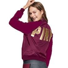 New Women Jacket Long Sleeve Casual Pink Tracksuit Women Love Pink Jackets Women Outwear Pink Hoodies Moletom Feminino P15 Z20