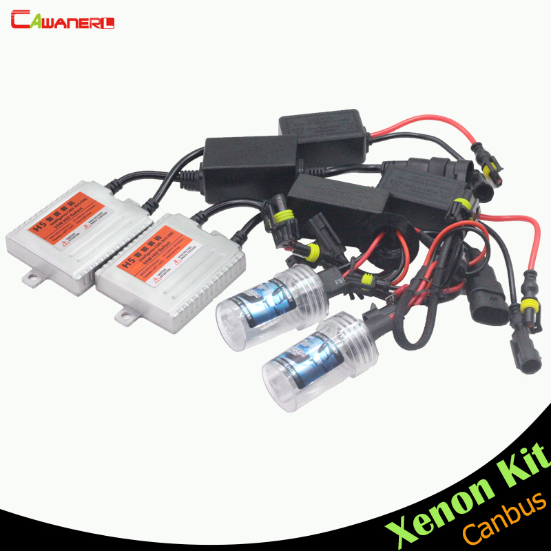 Cawanerl H3 55W Canbus Error Free HID Xenon Kit Ballast Bulb AC 3000K-15000K Car Headlight Fog Light Daytime Running Lamp DRL