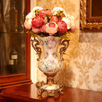 American table decorations Home Furnishing vase living room TV cabinet floral decoration simulation