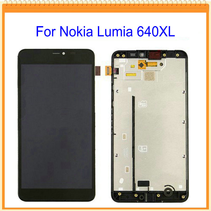 For Nokia Lumia 640 640xl LCD Screen Display with Touch Screen Digitizer Assembly with LCD frame