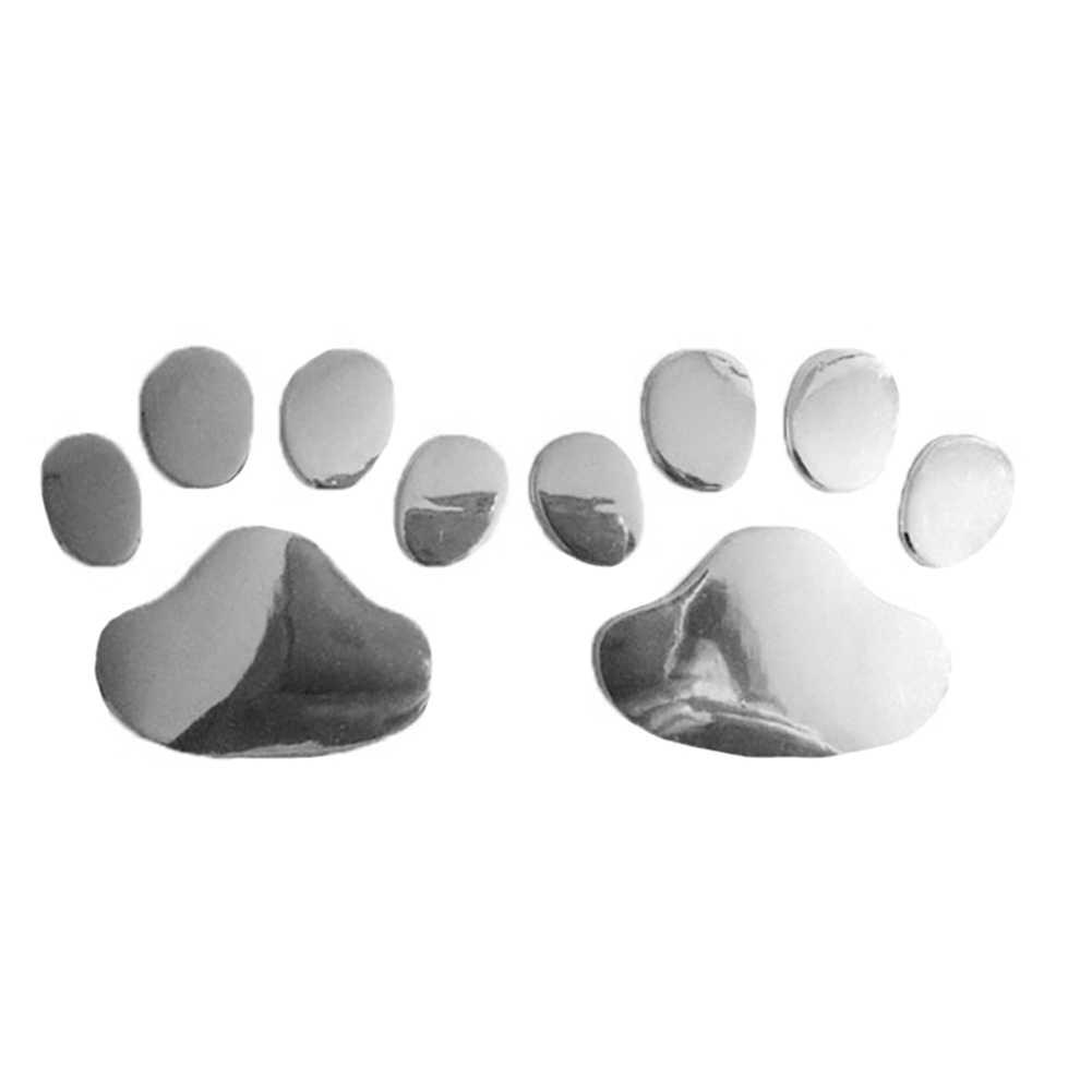 2 шт./компл. 3D Забавный медведь собака Лапа печать ног автомобиля тело виниловая декоративная наклейка стикер